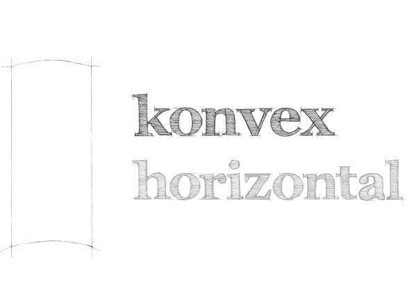 konvex horizontal